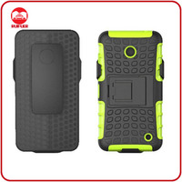 Protective 2 in 1 Tough Rugged Armor Kickstand Holster Combo Hybrid Mobile Phone Case for Nokia Lumia 630 With Belt Clip