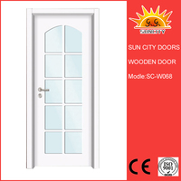 Cheapest used exterior french Wooden doors for sale SC-W068