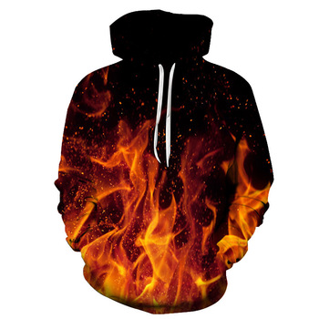 Custom design plus size print long sleeve 3D sublimated hoodie