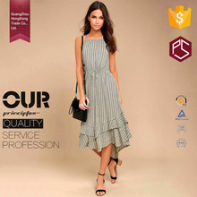 China HongXiong manufacturer OEM summer casual style open back sexy midi women dress