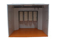 Walk-in powder paint spray booth