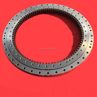 single row four-point contact ball slewing bearing for excavators