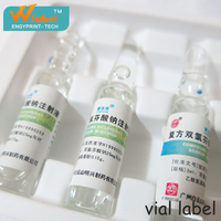 2016 Best Price Self-Adhesive Custom Printing Pill Medicine Pharmaceutical Vial Bottle Label,Private Logo Label Maker