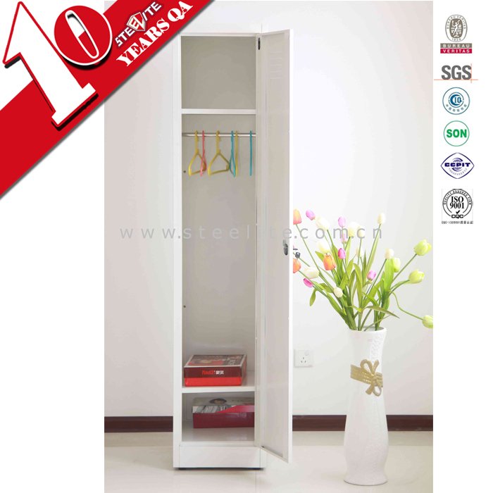 Single Door Cheap Metal Locker / Wardrobe Locker / Clothes Cabinet