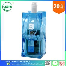 China supplier high quality wine bottle pvc ice chill bag