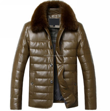 Men's fashion casual pu leather jacket