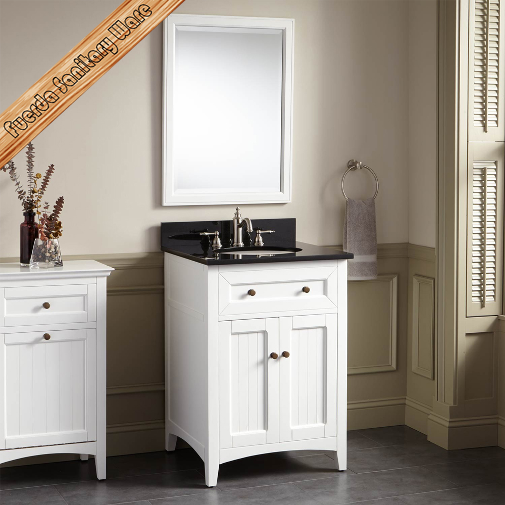 FED-346 24 inch DTC hardware single sink modern white bathroom vanities