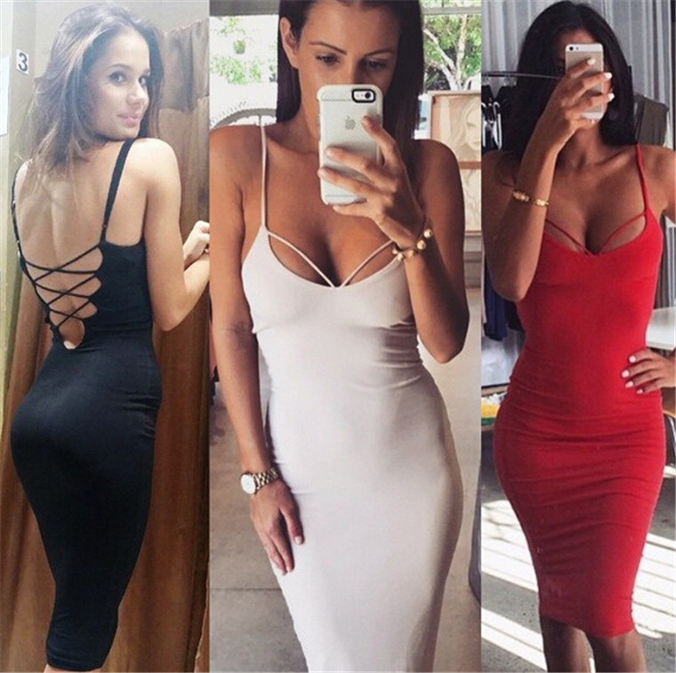 2016 Red Bandage Dress Fabric Sexy Tube Plus Size Suspenders Bandage Dress