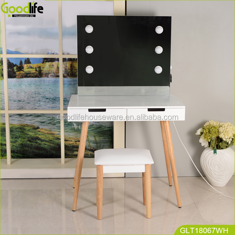 Goodlife New sale dressing table wooden dressing table with full-length mirror & drawers