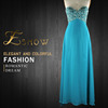 2016 Wholesale Popular Sweetheart Beaded Chiffon Evening Dress for Ladies