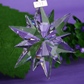 optical crystal glass snowflake for gift