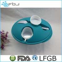 Plastic Fruit Salad Takeaway Food Container With Fork