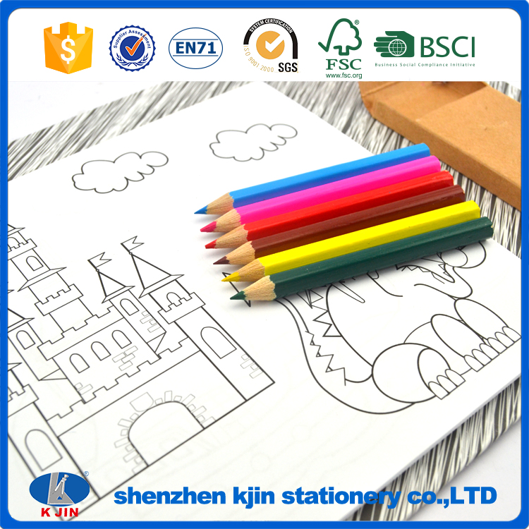 High quality custom customize design drawing <strong>coloring</strong> book for children with pencil set
