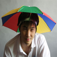 Outdoor Elasticated umbrella cap rainbow watermelon color fishing umbrella