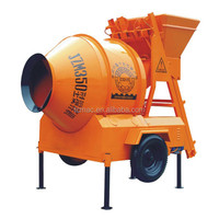 Self- loading and mobile concrete mixer with JZM350