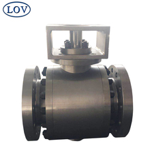 100% inspected Full Bore Flanged Three Pieces Trunnion Mounted Stainless Steel Ball Valve