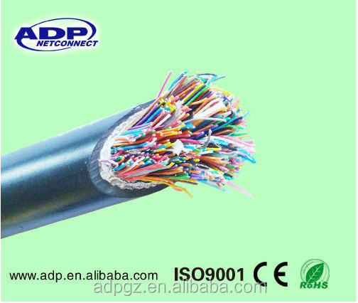 10/20/50/100/200/300/500 pair 0.6MM Copper Jelly Filled Armored UG Telephone Cable