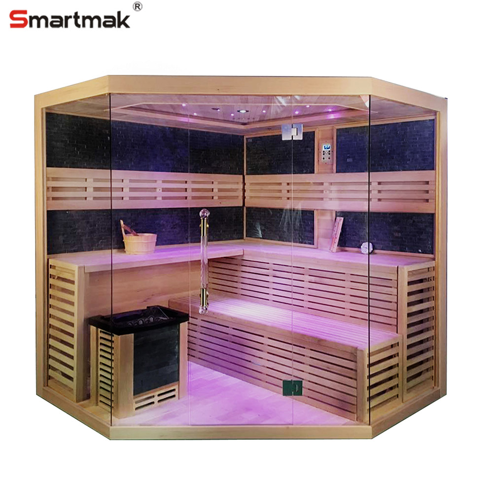 Home Burn Calories Traditional wet fashion nudist 6 person sauna