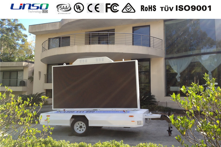 Modern design led mobile trailer tv manufacture for promoled tion