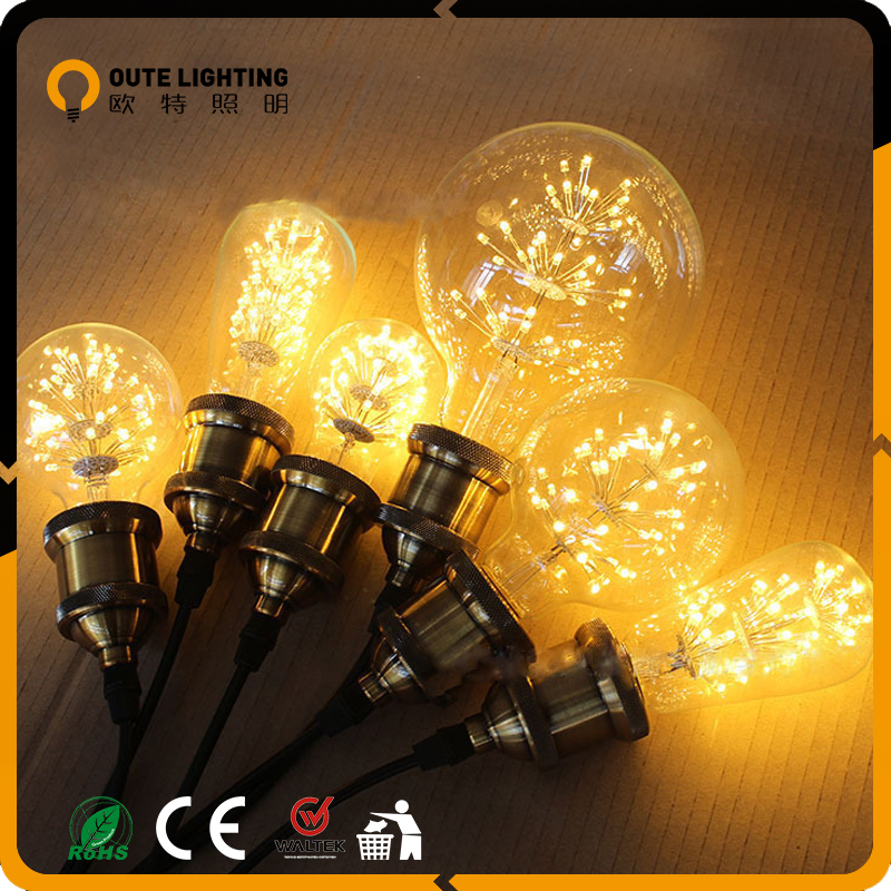 Wholesale Price Retro Vintage 1.5W 1.8W Firework A19 Dimmable Led Light Bulbs