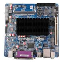 Cheap Intel mini itx motherboard N455HN with Intel Cedar Trail Atom N455 Dual Core 1.66Ghz 2xCOM Fanless for POS thin client min