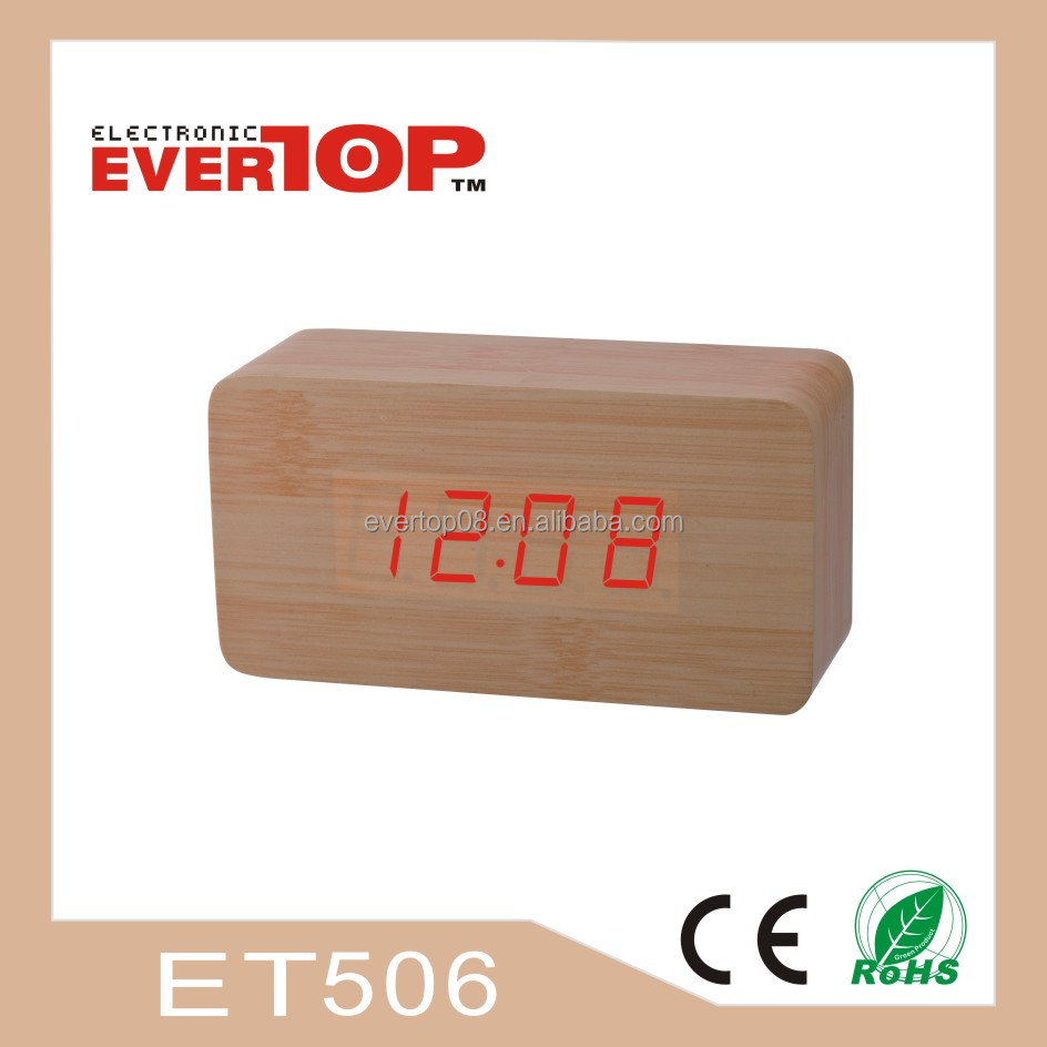 2016 NEW WOODEN LED CLOCK DIGITAL DESK CLOCK ET506