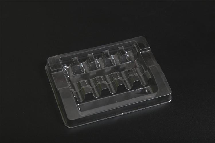 Limpar transparente frasco ampola de plástico bandeja de embalagem