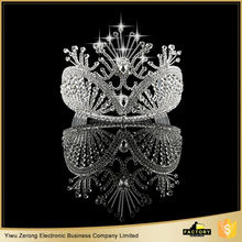 New coming different types bride round wedding tiara with many colors