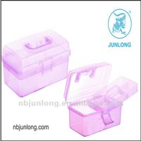 plastic transparent tool box