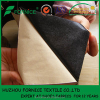 100% polyester adhesive suede fabric