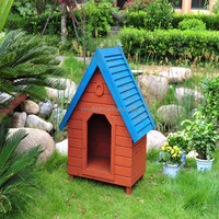 New Dog House Medium Dogs Outdoor Pet Shelter Wood Doghouse Weather Resistant