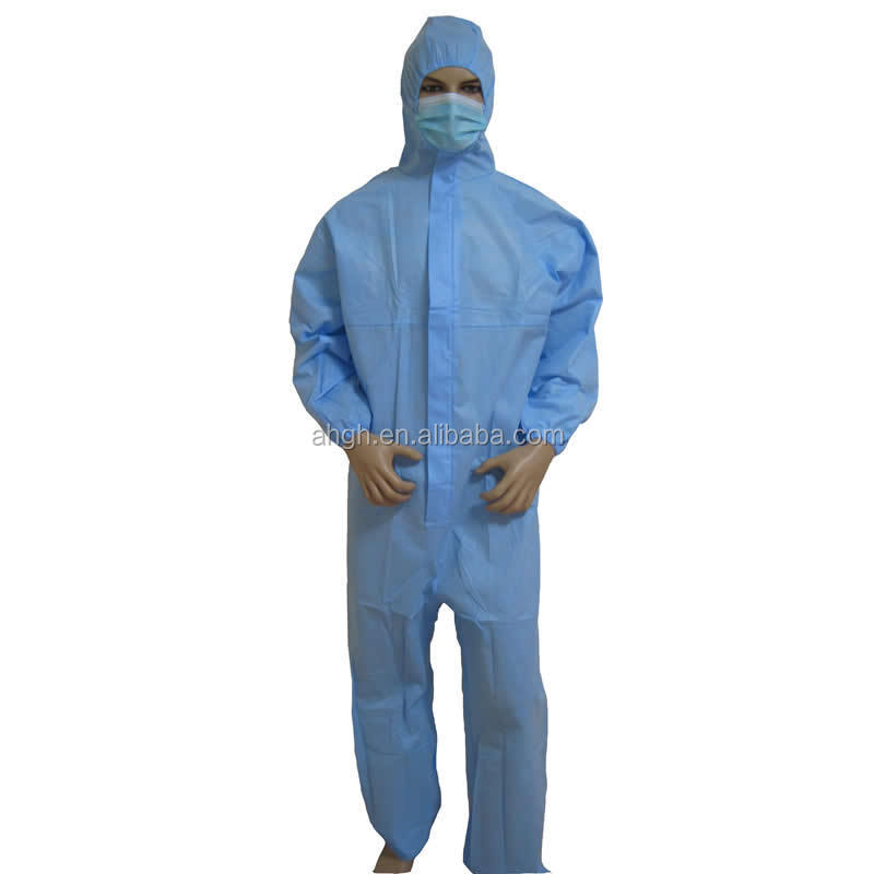 Medical Waterproof Disposable PP , SMS Nonwoven Coveralls for Protective