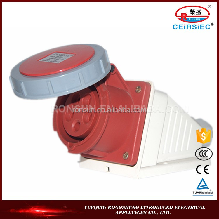 Chinese manufacture IP67 16A 220-380V Industrial waterproof electrical wall socket material