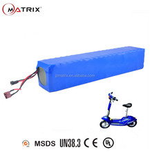 Matrix High power rechargeable lithium ion battery pack 36v 20ah 30ah 50ah li-ion electric bike/scooter battery