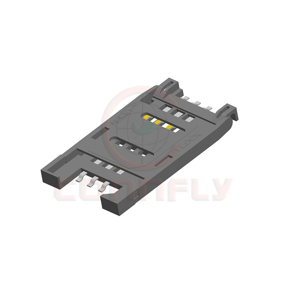 Good quality 2.54mm pitch 2.5mm Height SMT type SIM Card