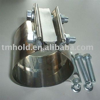 high performance stainless steel silencer clamps