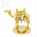 Specialized Vintage Gold Plated Metal Crystal Camels figurines Home Decoration Ideas