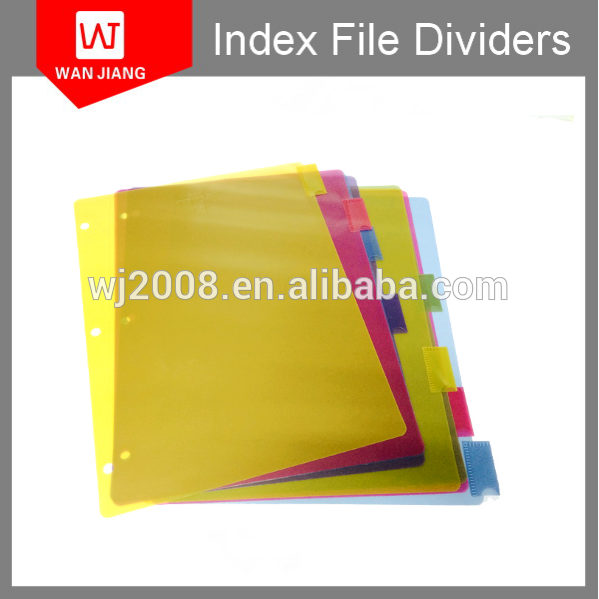 2016 hot product cheap price custom size Index Tab File Divider
