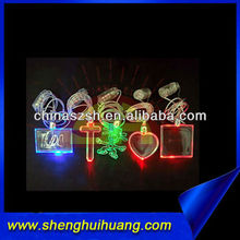 Different Shaped LED Flashing Glass Bottle Necklaces for Wedding Gift