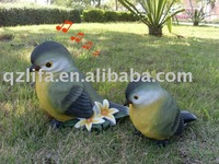 Good quality resin craft sensor singing bird with Reachargeable battery