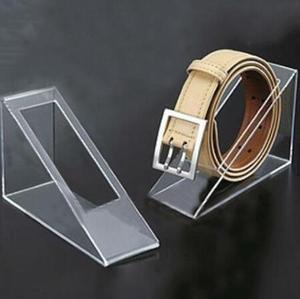 Wholesale customized clear acrylic leather belt display stand