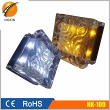 Solar Powered Garden Light, Crystal Glass Solar Led Solar Brick