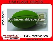 Green Rugby American Footbal USB Flash Drive Memory
