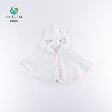 Newborn fashion warm baby girl hooded cloak for little toddler