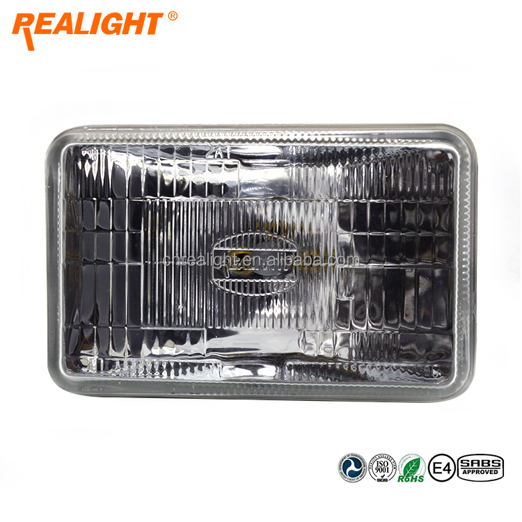 High Quality REALIGHT 5 Inch Square Super White Auto Headlamp Halogen Sealed Beam