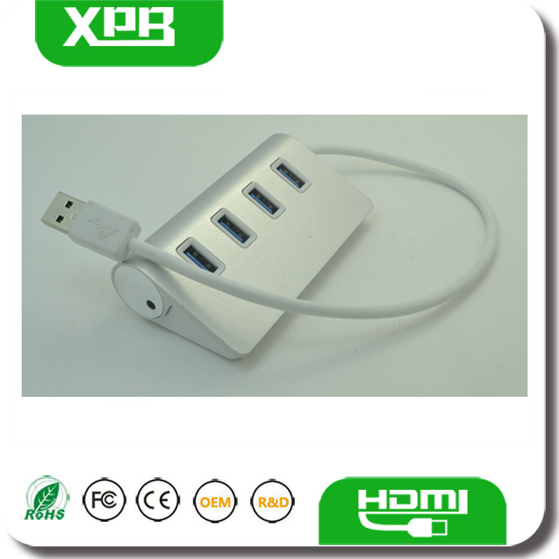 High Speed USB 2.0 4 Port HUB With Mobile Phone Charger