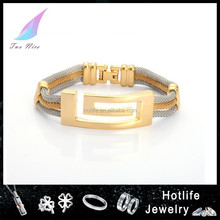 2016 new products on china market 316L stainless steel mesh bracelet,silver woven bracelet