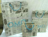 Eco Friendly Paper Promotional Bags made from Old News Papers