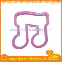Music symbols shape plastic angel cookie cutter