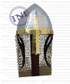 Norman Armor Helmet with Chain Mail , Norman armour helmet , Armor knight helmet